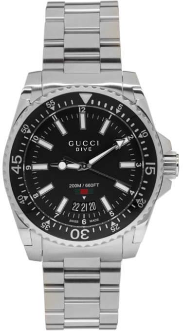 Gucci Silver XL Dive Watch