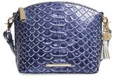Brahmin Mini Duxbury Leather Crossbody Bag - Blue