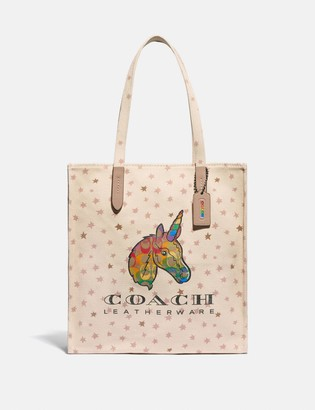 Coach Tote With Rainbow Signature Uni