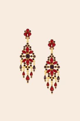 Trina Turk Tt X Ben Amun Bejeweled Chandelier Earring