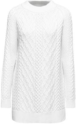Esprit Womens Natural Long Sleeved Cable Sweater - Natural