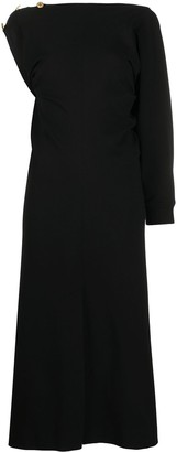 Givenchy Ribbed One-Sleeve Dress