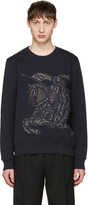 Burberry Navy Lyster Pullover