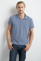 Faustino Cotton Linen Stripe Polo Shirt