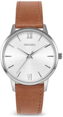 Vincero Watches Eros Petite - Silver + Caramel