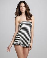 Juicy Couture Boudoir Striped Swimdress