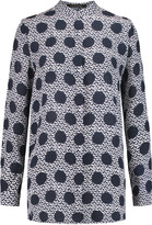 Mother of Pearl Gibson printed silk-crepe blouse