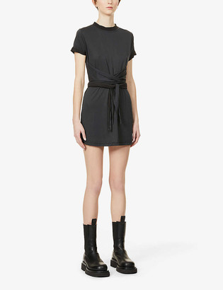 Alice + Olivia Jasset short-sleeved jersey mini dress