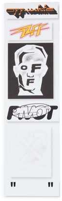 Off-White Masked Face Stickers Set