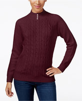 Karen Scott Cable-Knit Sweater, Only at Macy's
