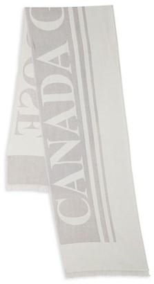 Canada Goose Logo Wool Scarf