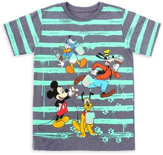 Disney Mickey Mouse and Friends Striped T-Shirt for Kids
