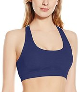 Flex Women's Wirefreee Push Up Sport Bra with Keyhole Racerback Detail