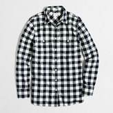 J.Crew Factory Petite flannel shirt in perfect fit