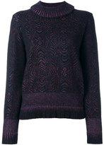 Lanvin marbled glitter detail jumper - women - Polyamide/Polyester/Spandex/Elastane/Wool - S