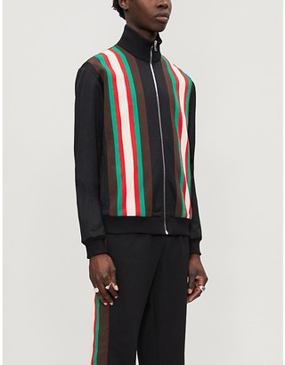 Gucci Striped woven track jacket