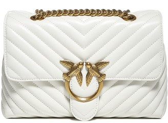 Pinko Love Lady Puff Quilted Leather Bag