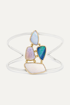 Melissa Joy Manning 14-karat Gold, Sterling Silver And Multi-stone Cuff - one size