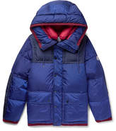 Moncler Empire K2 Panelled Quilted Shell Down Jacket - Blue