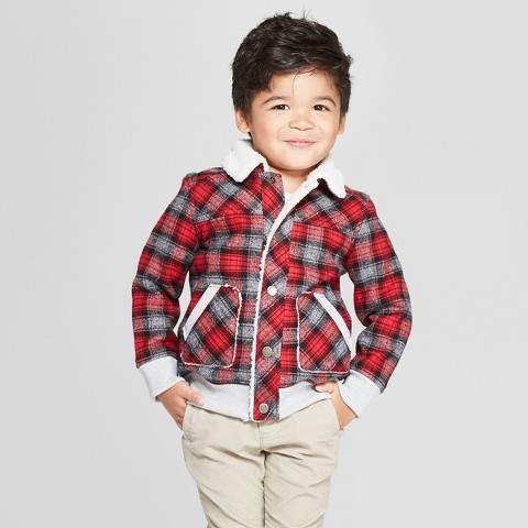 3156edc7e Genuine Kids from OshKosh Genuine Kids® from OshKosh Toddler Boys' Sherpa  Trucker Track Jacket - Red