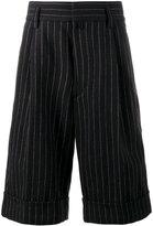 Dries Van Noten pinstripe knee-length shorts