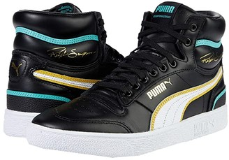Puma Ralph Sampson Mid Hoops Black White White) Men's Shoes