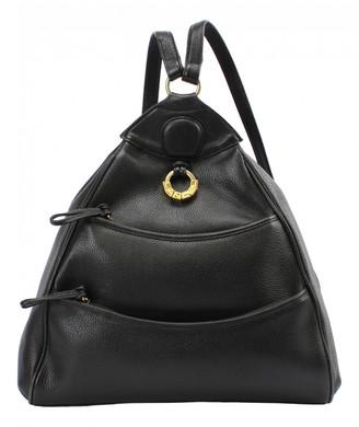 Lancel Black Leather Backpacks