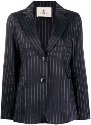 Barena Linen-Blend Striped Blazer