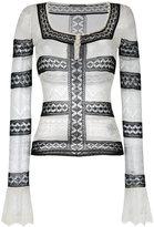 Alexander McQueen lace top - women - Silk/Polyamide/Spandex/Elastane - L