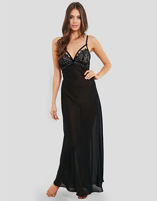 Dita Von Teese Black Dahlia Long Nightgown