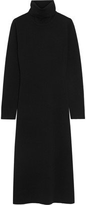 Iris & Ink Aika Merino Wool Turtleneck Midi Dress