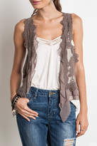 Umgee USA Knit Crochet Vest