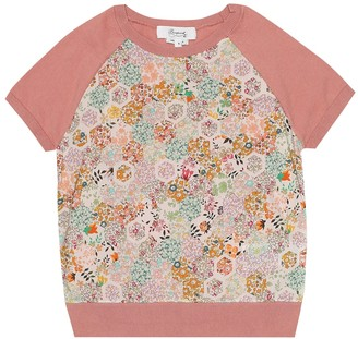 Bonpoint Floral cotton short-sleeve sweater