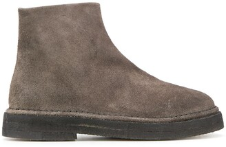 Marsèll Textured Round Toe Boots
