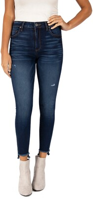 KUT from the Kloth Connie High Waist Step Hem Ankle Skinny Jeans
