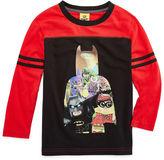 Batman Long Sleeve Crew Neck T-Shirt-Preschool Boys