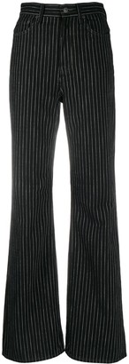 Acne Studios 1990 Pinstripe Flared Jeans