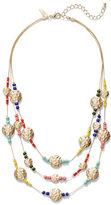 New York & Co. Disc-Accent Beaded Illusion Necklace