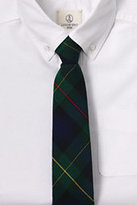 Classic Kids Pre Tied Tie Navy/Evergreen Plaid