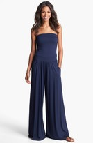 Three Dots Strapless Jersey Jumpsuit