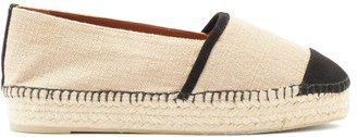 Castaner Killa Cotton Espadrille Loafers - Black Beige