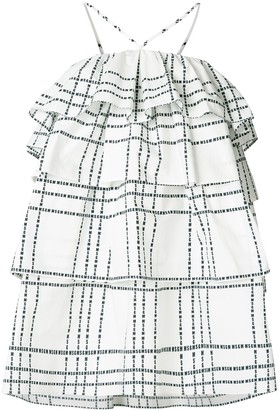 MSGM layered ruffle check dress