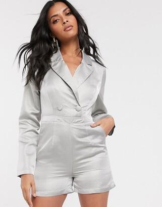 UNIQUE21 tailored shimmer blazer playsuit