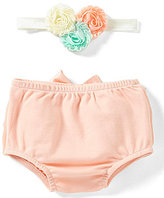Starting Out Baby Girls Mesh Ruffle Headband & Diaper Cover Set