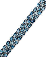 Macy's Blue Topaz Three-Row Bracelet in Sterling Silver (28 ct. t.w.)