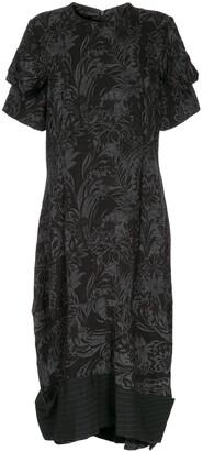 Comme Des Garçons Pre Owned Floral Jacquard Dress
