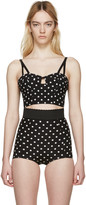 Dolce & Gabbana Black and White Polka Dot Bustier