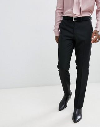 Asos Design DESIGN slim tuxedo suit trousers in black