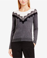 Vince Camuto Lace-Trim Sweater