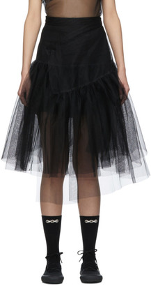 SHUSHU/TONG SSENSE Exclusive Black 2 Layer Skirt